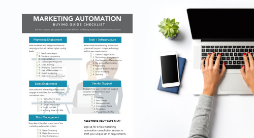 Marketing Automation Buying Guide Checklist