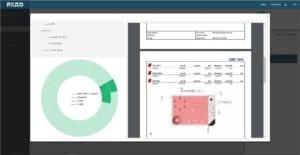 """FARO CAM2 2018 conta com o """"Centro de controle de RPM"""" (gestão da repetição de peças) que brinda informações em tempo real de um tablero baseado na web que pode ser utilizado para uma visão de fabricação processável."""