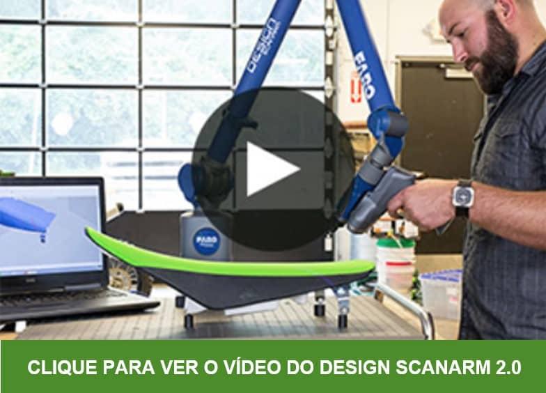 O novo Design ScanArm 2.0 oferece uma combinação excepcional de flexibilidade, confiabilidade, valor e desempenho através da precisão de su clase, resolução e ergonomia da melhor classe.