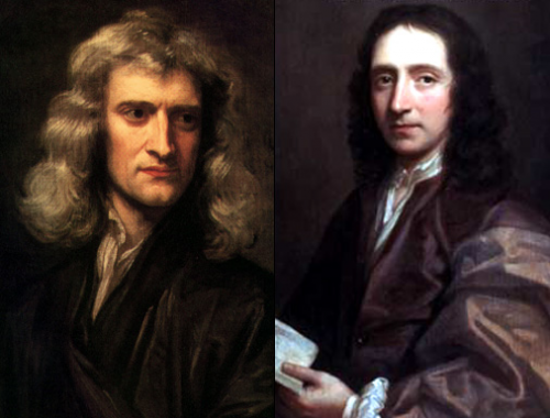 Picture of Isaac Newton and Edmond Halley