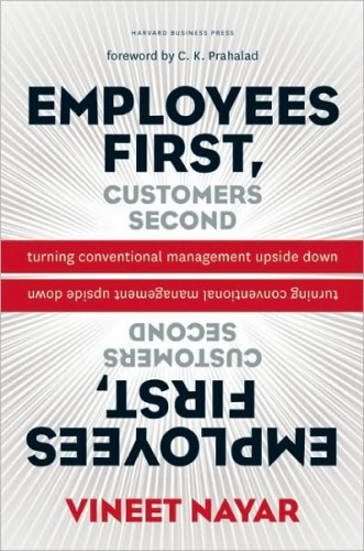 Book cover of Employees First, Customers SecondTurning Conventional Management Upside Down