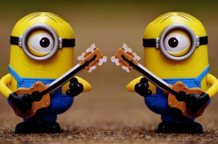Minions with guitars