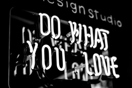 Do What You Love LED Sign