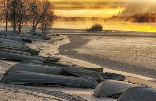 shore line in Finland
