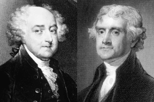 Picture of John Adams and Thomas Jefferson