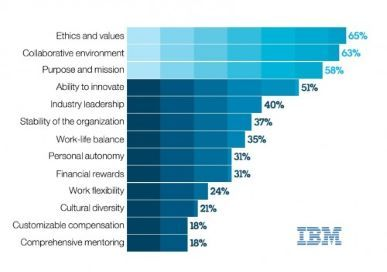 IBM Chart of company values