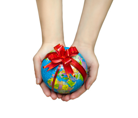 Gift-wrapped Globe