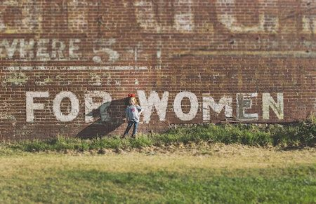 For Women sign