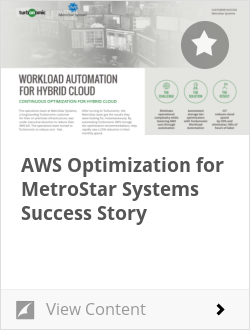 AWS Optimization for MetroStar Systems Success Story