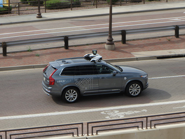 Uber testing self-driving car