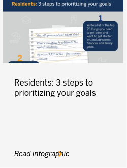 Residents: 3 steps to prioritizing your goals