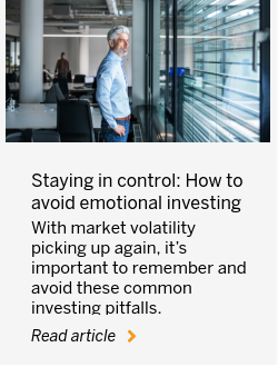 Staying in control: How to avoid emotional investing