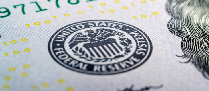 The United-States federal reserve signature on an American bill.