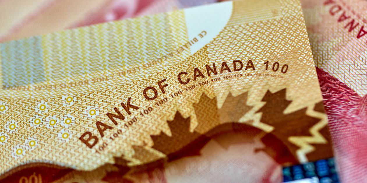 Canadian bills with the Bank of Canada signature on them.