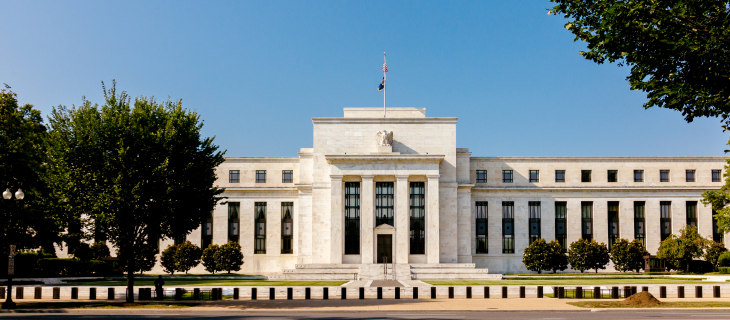 An exterior picture of the United-States federal reserve building.