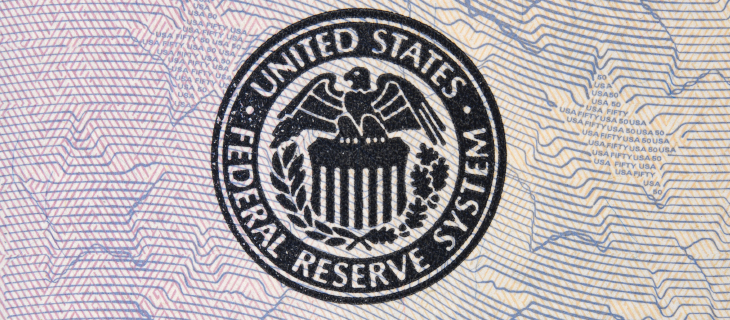 United States federal reserve system signature stamp.