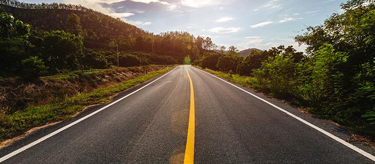 landscape view of a road