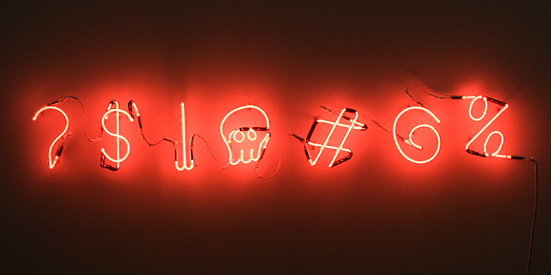 ?$I#@% neon sign