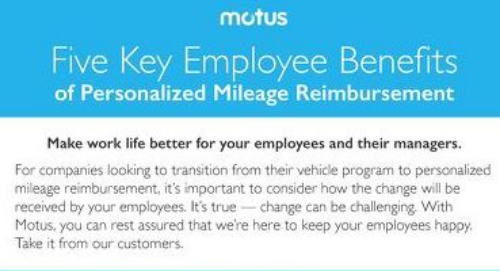 Five Key Employee Benefits of Personalized Mileage Reimbursement