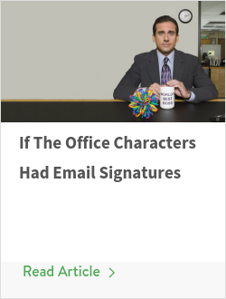 If The Office Characters Had Email Signatures