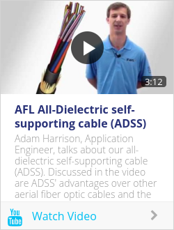 AFL All-Dielectric self-supporting cable (ADSS)