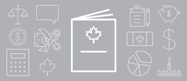 Iconographie avec treize symboles du budget fédérale.