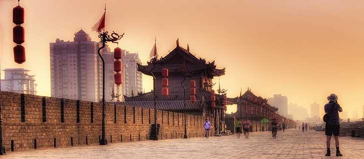 Paysage de la grande muraille de Chine.
