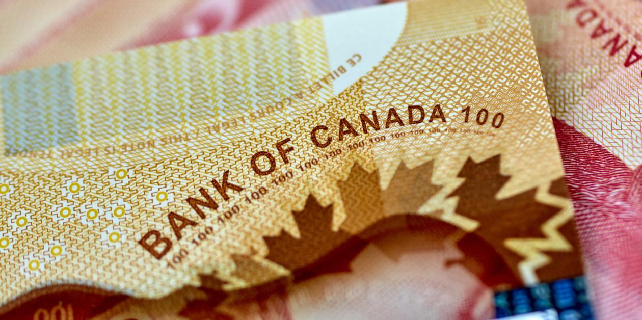 Une signature de la Banque du Canada sur un billet d'argent canadien.