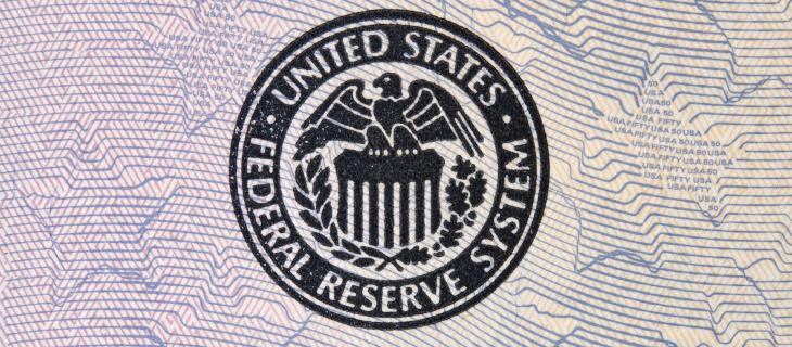 Un timbre du système de réserve fédérale des Etats-Unis.