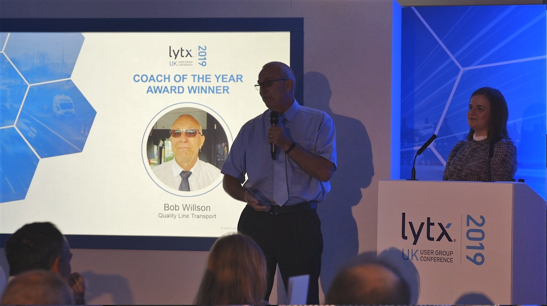Lytx UK User Group Conference Coach of the Year