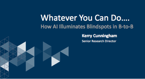 "ZEN Presentation SiriusDecisions ""How AI Illuminates Blindspots in B-to-B"""
