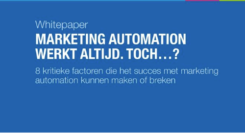 NL: marketing automation werkt altijd