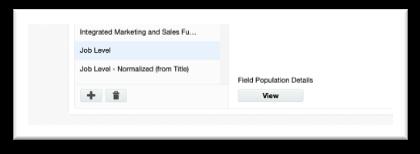Field Population Details