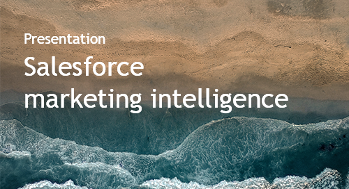 Intentional Serendipity in Practice - Salesforce's Use of Intent Data to Build Marketing Intelligence - Intent Event 2018