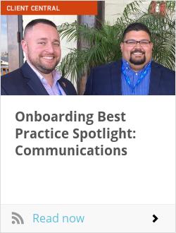 Onboarding Best Practice Spotlight: Communications