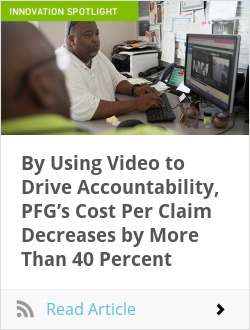 By Using Video to Drive Accountability, PFG's Cost Per Claim Decreases by More Than 40 Percent