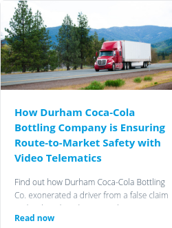 How Durham Coca-Cola Bottling Company is Ensuring Route-to-Market Safety with Video Telematics