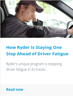 How Ryder Is Staying One Step Ahead of Driver Fatigue