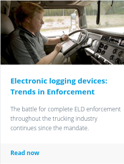 Electronic logging devices: Trends in Enforcement