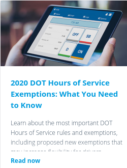 2020 DOT Hours of Service Exemptions: What You Need to Know