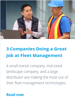 3 Companies Doing a Great Job at Fleet Management