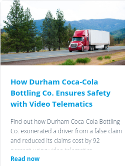 How Durham Coca-Cola Bottling Co. Ensures Safety with Video Telematics