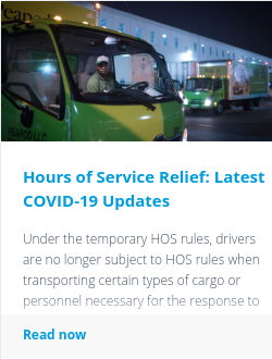 Hours of Service Relief: Latest COVID-19 Updates
