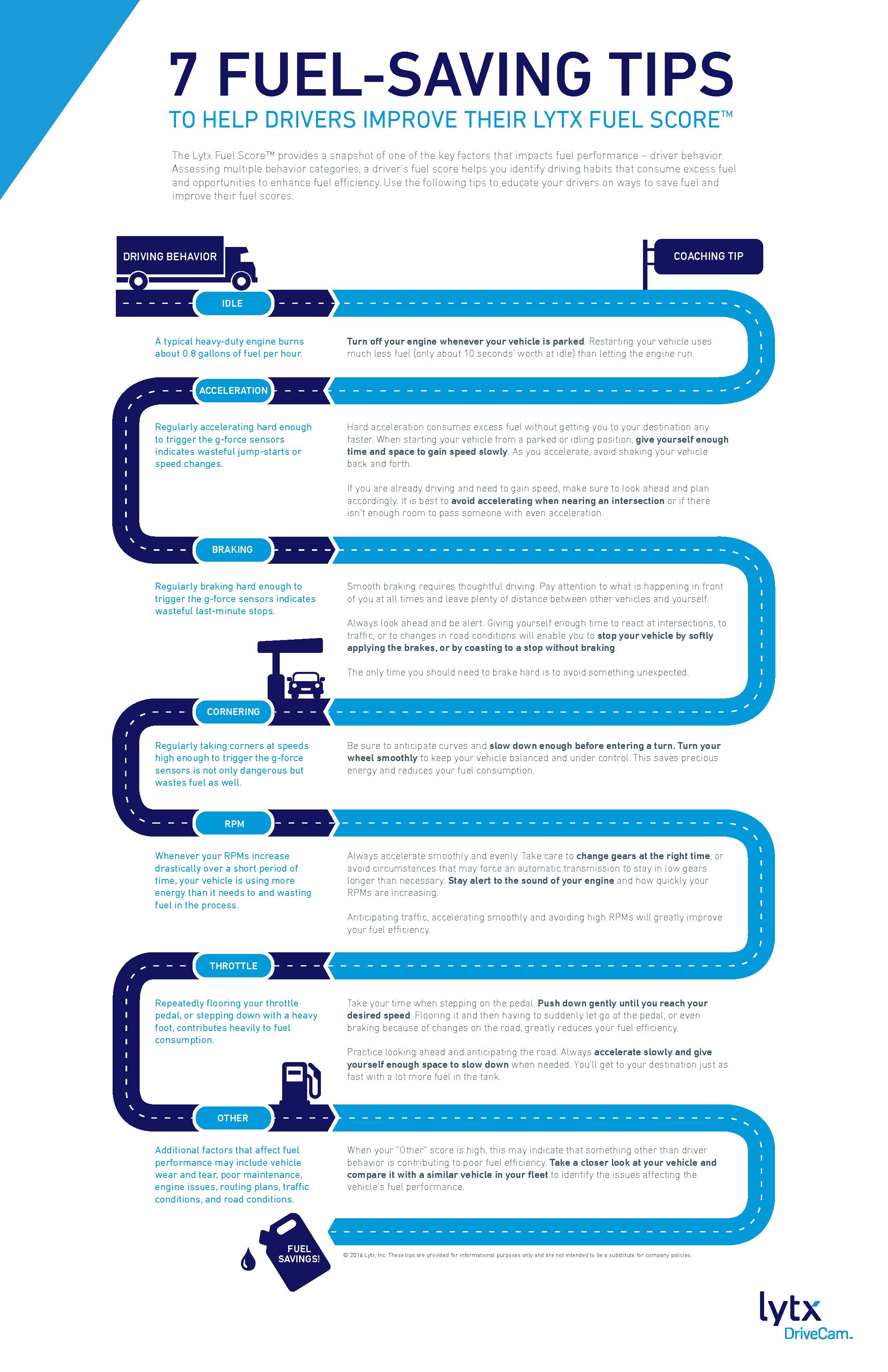 7 Fuel-Saving Tips infographic