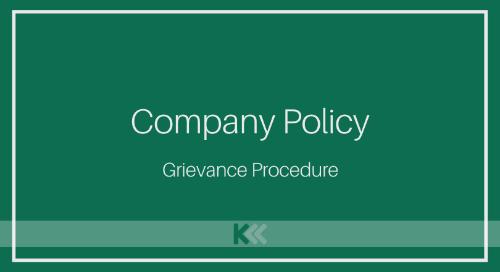 Company Policy - Grievance Procedure