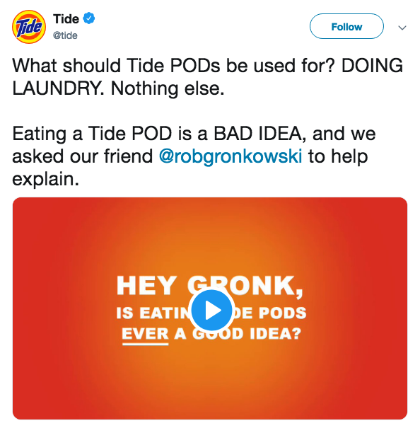 Crisis Strategy Example Tide Pods