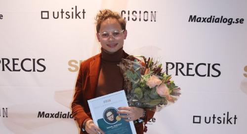 Daniel Redgert awarded the Cision PR Influencer Award 2019 at Sweden's Spinngalan Awards