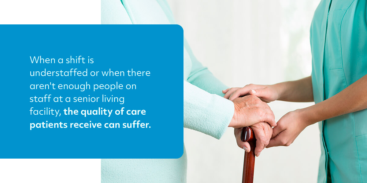 Understaffing can impact the quality of care that patients can receive.