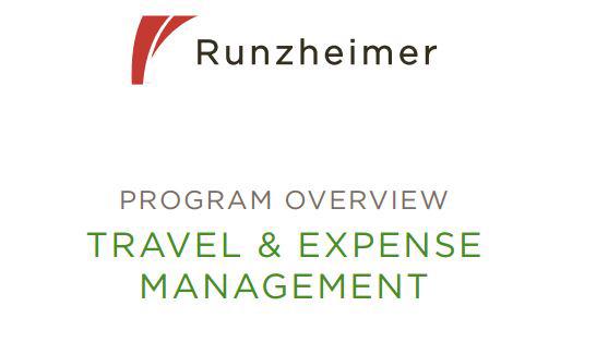 Travel Expense Management Program Overview