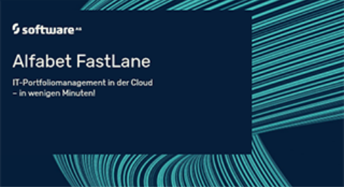 Alfabet FastLane - SaaS IT-Portfoliomanagement